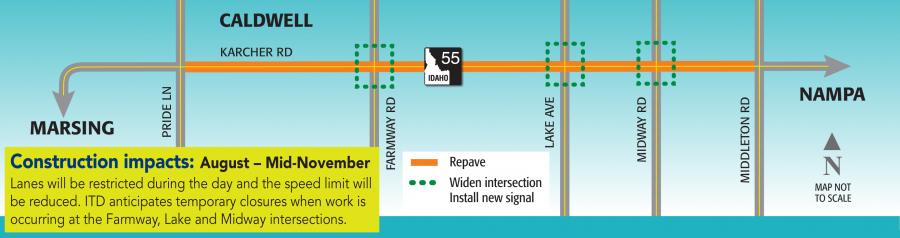 Karcher Road Construction map