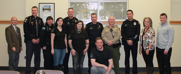 Local law enforcement agencies gather with partners to announce the No Refusal Weekend.