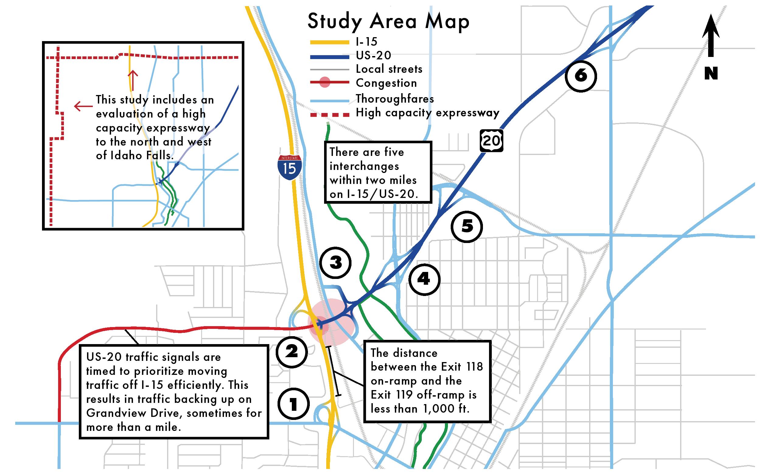 Idaho Falls Study Area Map