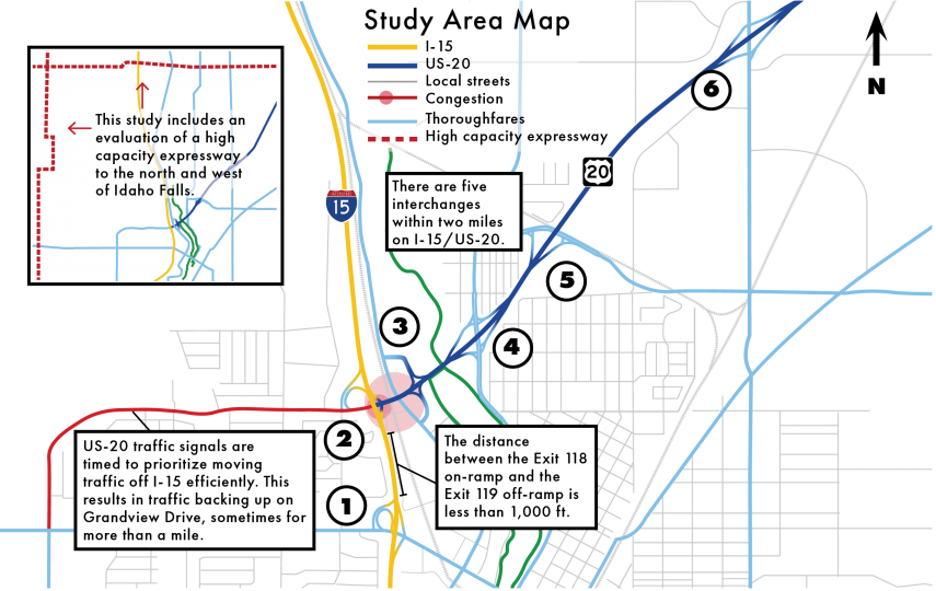 Idaho Falls Study Area Map