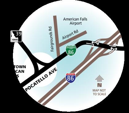 American Falls Map