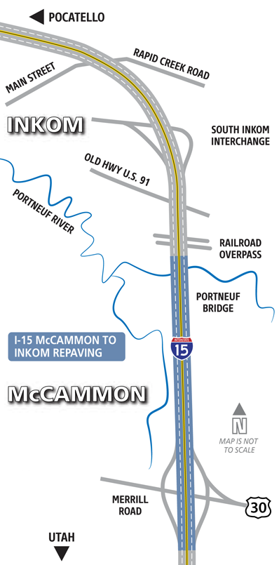 McCammon to Inkom Map