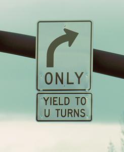 Yield to U sign