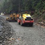 crews build temporary road