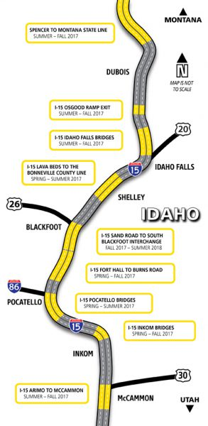 I-15 Project Map