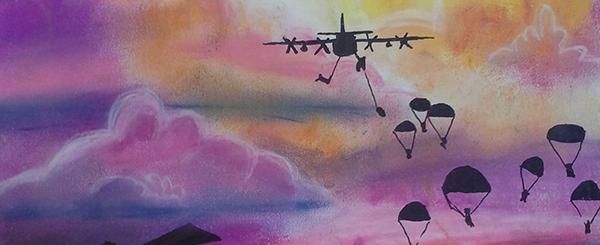 Aero art paratroopers
