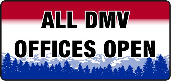 All DMV Offices are Open