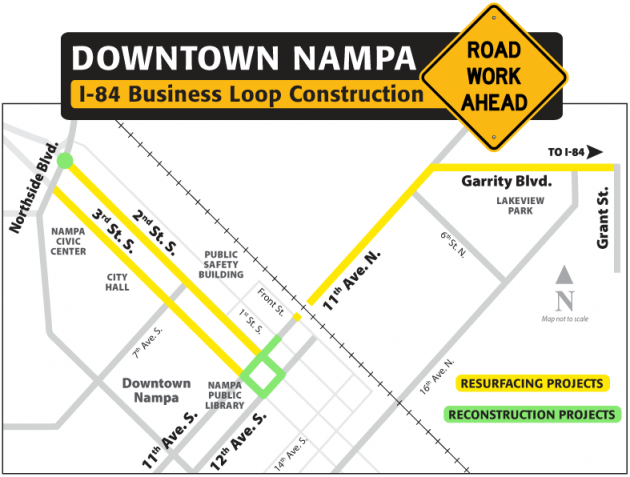 I-84 Business Loop - Nampa Map