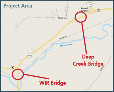 US-95: Potlatch Bridges Project Area