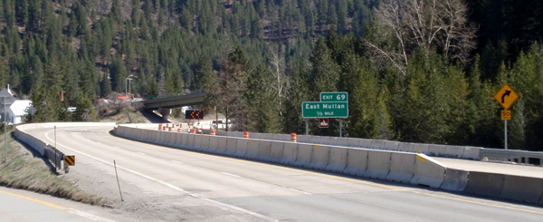 Reconstruction of I-90 near Mullan continues