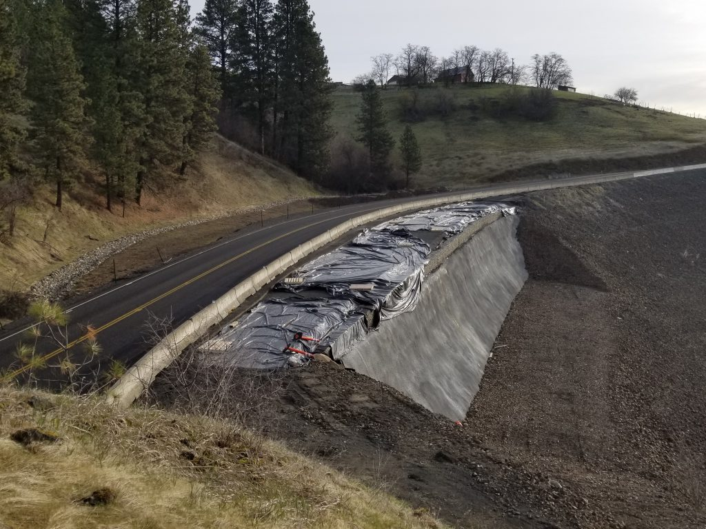 Repairs return to ID-3 north of Kendrick after 2017 slide