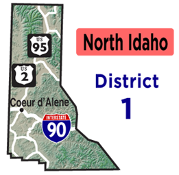 North Idaho Map | District 1 Map