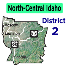 North-Central Idaho Map | District 2 Map