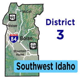 Southwest Idaho Map | District 3 Map