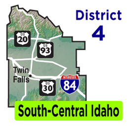 South-Central Idaho Map | District 4 Map