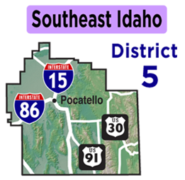 Southeast Idaho Map | District 5 Map