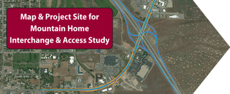 Mouontain Home Interchange & Study Map & Site