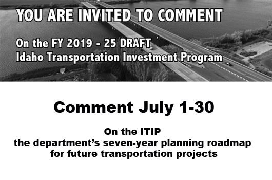 Transportation department seeks public comment in July on planned projects