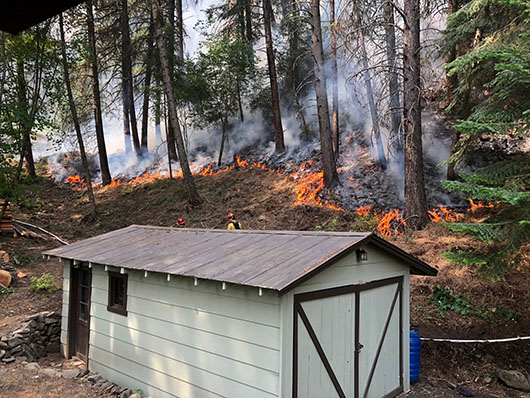 Rattlesnake Creek Fire near Riggins sparks partnership