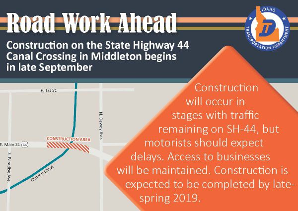 Interstate 84 expansion project in Nampa begins Sept  26