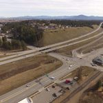 Aerial view of the current I-90/ID-41 interchange.