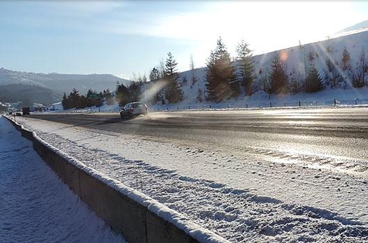 Lower speed limit advised on I-90 near Kellogg