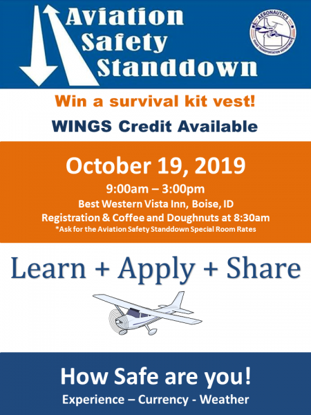 Aeronautics Safety Standdown in October