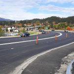Traffic flows through construction on US-95 near the Kootenai River Bridge in Bonners Ferry.