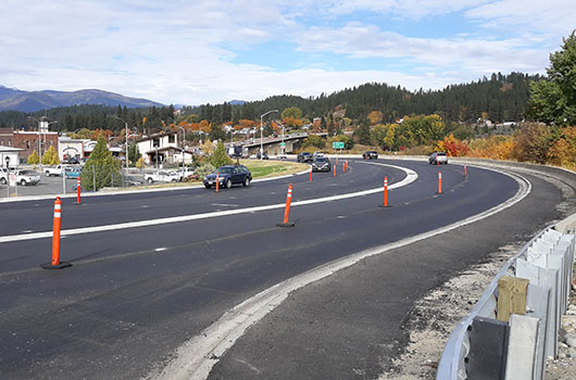 Utility work ongoing in Bonners Ferry for US-95 reconstruction