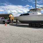 A picture of a boat check station, courtesy of ISDA.