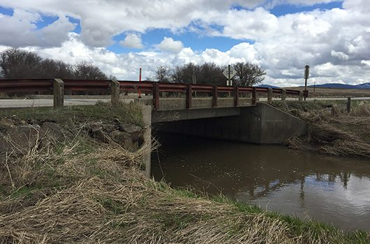 Bridge over Little Hangman Creek on ID-60 is one of seven structures being replaced from 2019 to 2021.