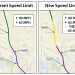 I-84 speed limit reduction in Caldwell