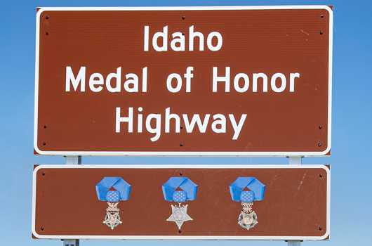 US-20 in Idaho officially renamed as a Medal of Honor Highway during ceremony and sign unveiling in Caldwell