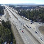 Aerial shot of US-95 and ID-53 north of CDA