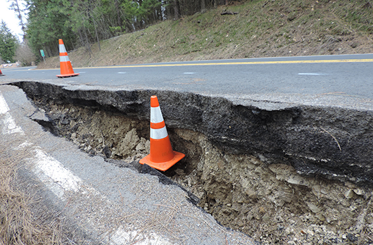 Idaho Highway 97 closed at milepost 76.9 in October for slide repairs