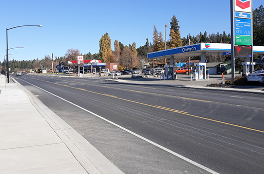 US-95 reconstruction in Bonners Ferry nearly complete