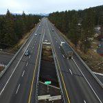 I-90 where it crosses over Pennsylvania Avenue in CDA