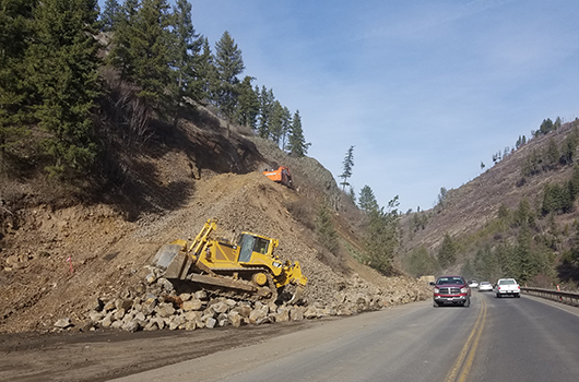 Rock removal to begin next week on US-95 at Winchester Hill