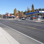 Photo of reconstructed US-95 in Bonners Ferry