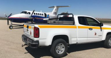 A plane carrying face coverings and hand sanitizer landed this afternoon at Jerome County Airport in District 4