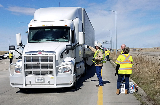 """Lunches for Truckers"" supports truck drivers at East Boise Port of Entry"