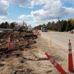 Construction near the intersection of Chinden and Eagle Road