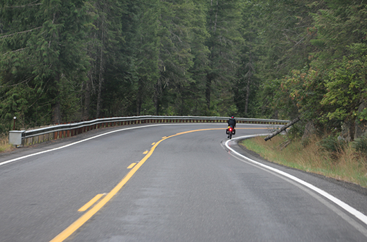 Comment today on shoulder widening for US-12 east of Kooskia