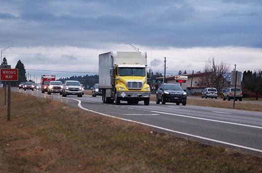 Photo of traffic on US-95 near Dakota Avenue in CDA