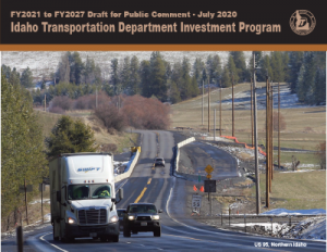 FY21-27 Draft Idaho Transportation Investment Program Cover