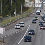 Photo of traffic using the Northwest Boulevard exit on I-90