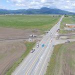 Traffic on ID-41 near the future railroad overpass