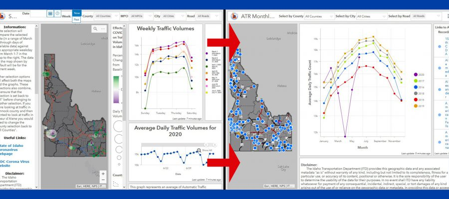 before and after photo of the traffic tracker tool