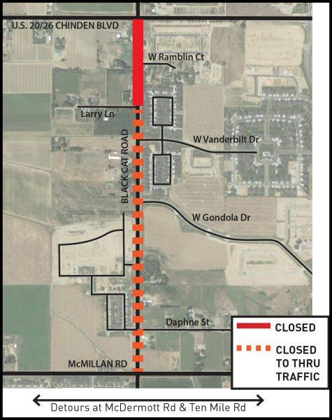 Black Cat Road Closure Map