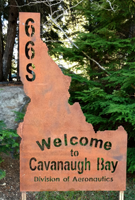 Cavanaugh Bay Airport Sign